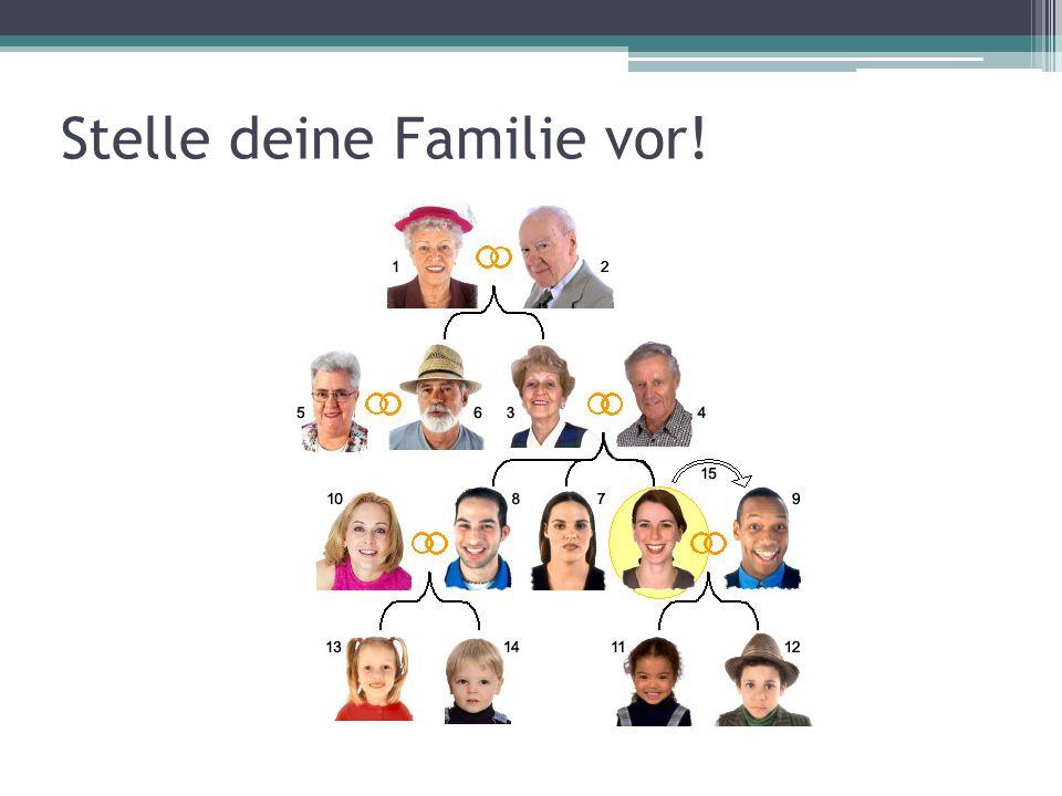 Stelle deine Familie vor!