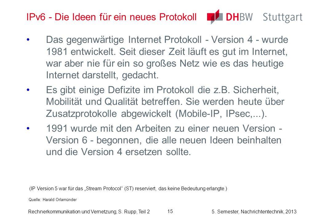 IPv6 - Die Ideen für ein neues Protokoll