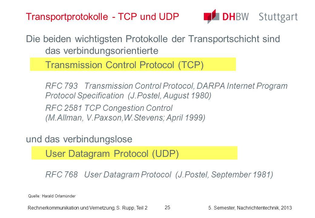 Transportprotokolle - TCP und UDP