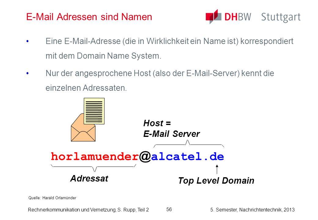 E-Mail Adressen sind Namen