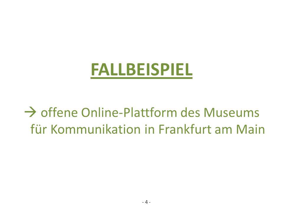 FALLBEISPIEL  offene Online-Plattform des Museums für Kommunikation in Frankfurt am Main