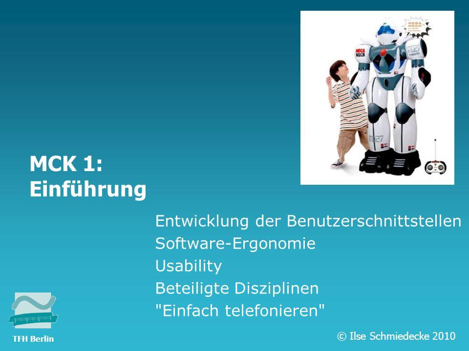 MCK 1: Einführung Entwicklung der Benutzerschnittstellen