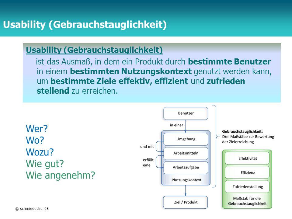 Usability (Gebrauchstauglichkeit)