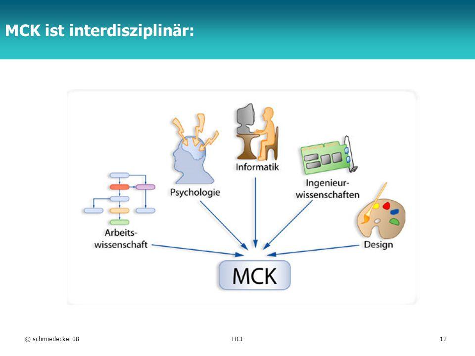 MCK ist interdisziplinär: