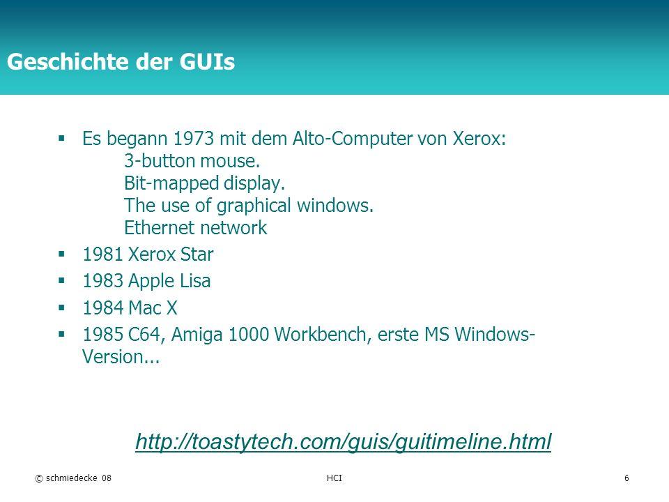 Geschichte der GUIs http://toastytech.com/guis/guitimeline.html