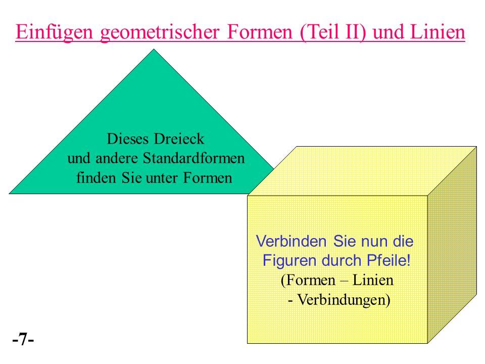 Einfügen geometrischer Formen (Teil II) und Linien