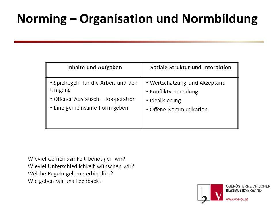 Norming – Organisation und Normbildung