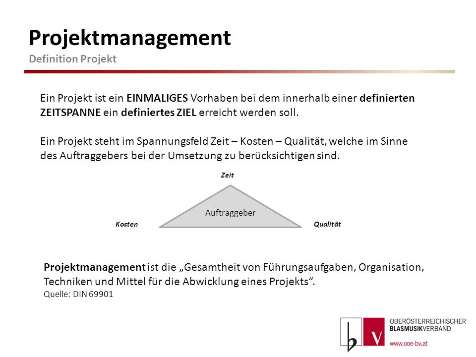 Projektmanagement Definition Projekt