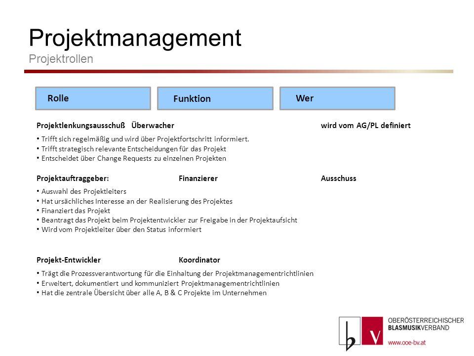 Projektmanagement Projektrollen