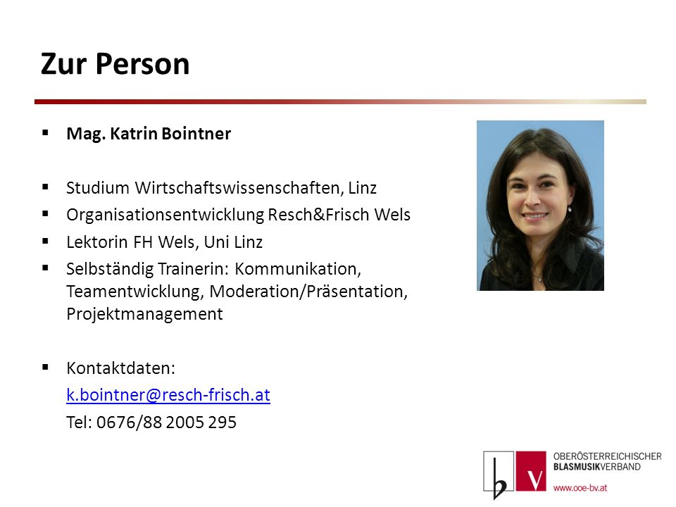 Zur Person Mag. Katrin Bointner