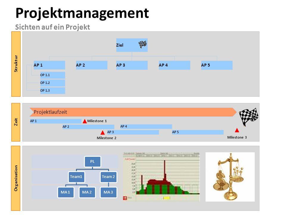 Projektmanagement Sichten auf ein Projekt