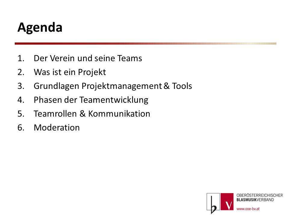 Agenda Der Verein und seine Teams Was ist ein Projekt