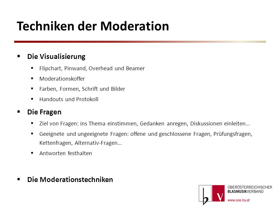 Techniken der Moderation