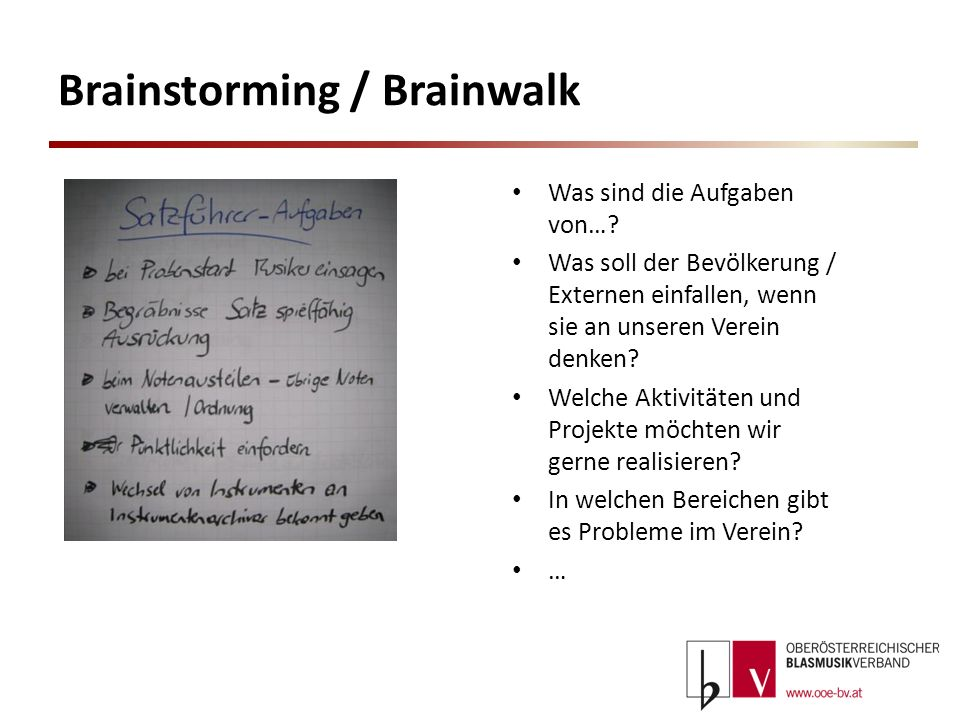 Brainstorming / Brainwalk