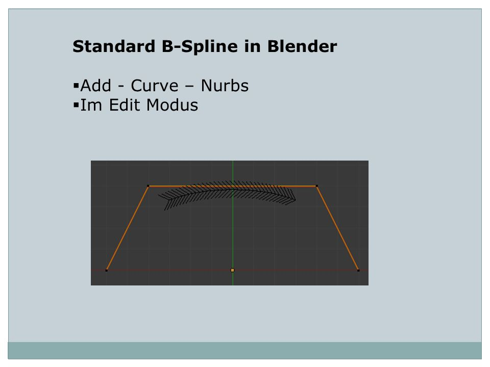 Standard B-Spline in Blender