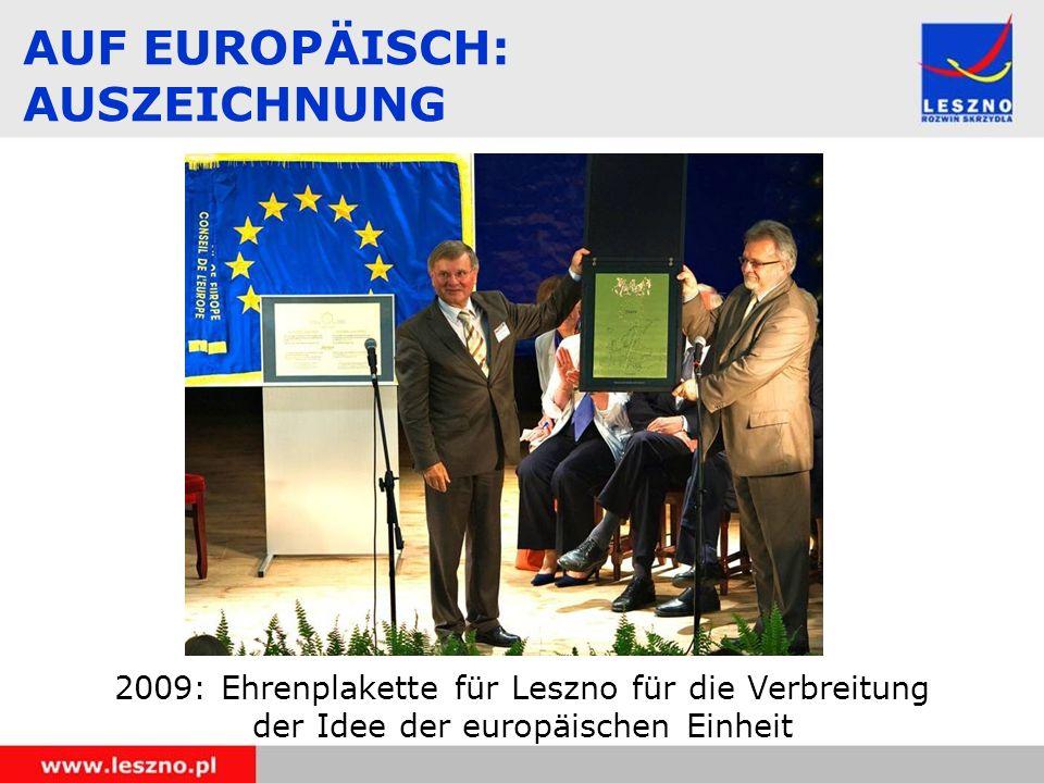 AUF EUROPÄISCH: AUSZEICHNUNG
