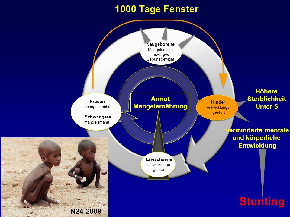 Stunting 1000 Tage Fenster N24 2009 Höhere Sterblichkeit Armut Unter 5