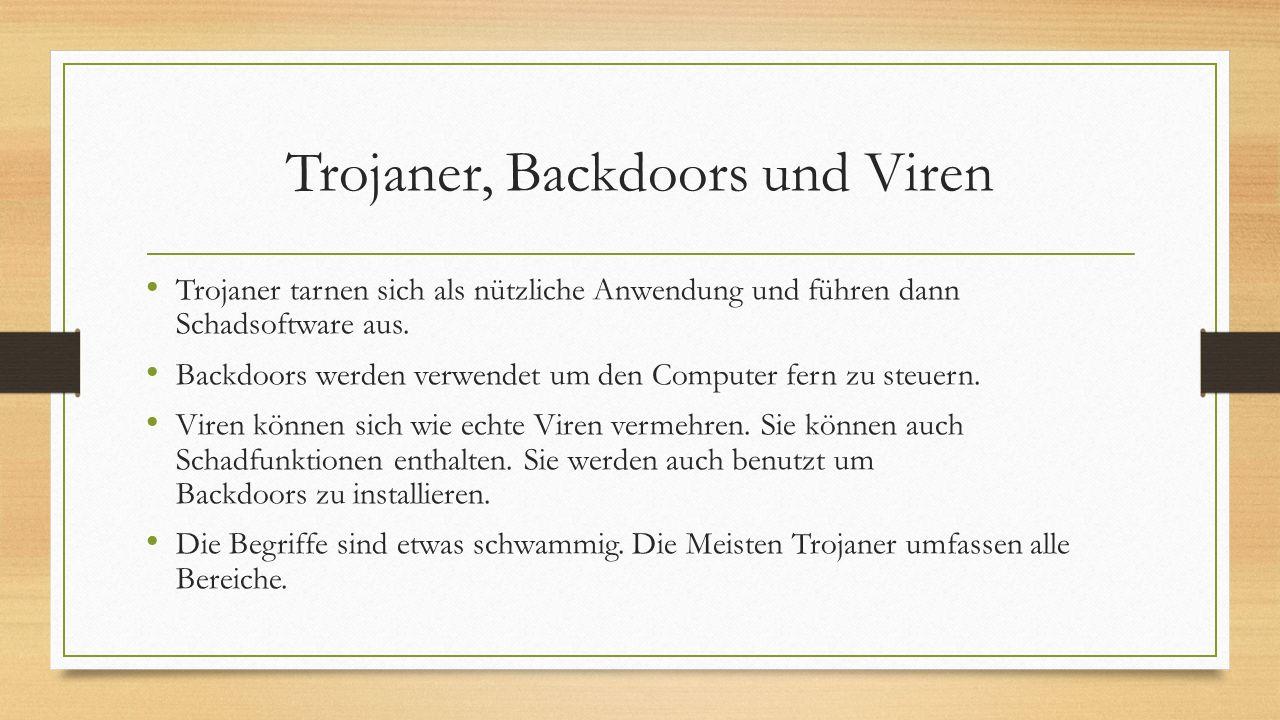 Trojaner, Backdoors und Viren