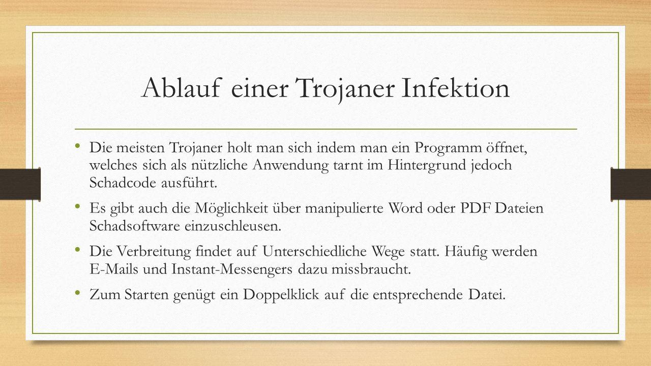 Ablauf einer Trojaner Infektion