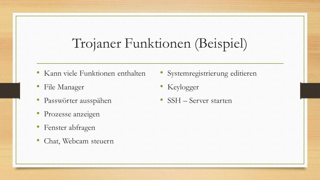 Trojaner Funktionen (Beispiel)
