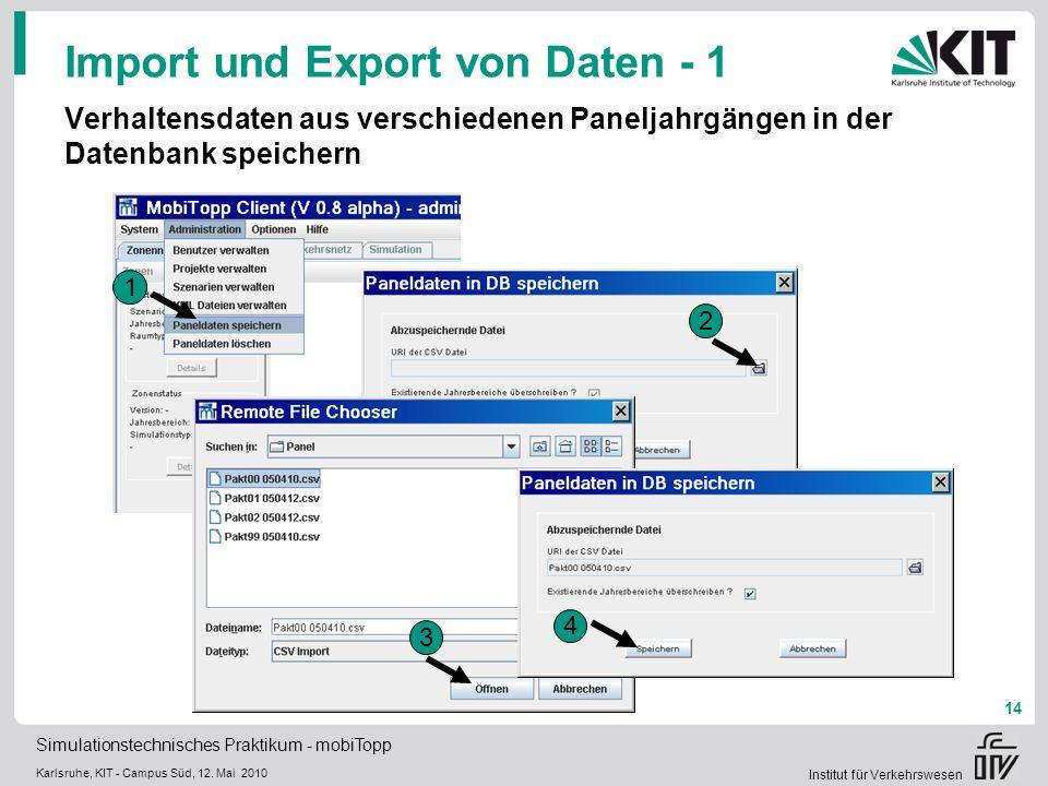 Import und Export von Daten - 1