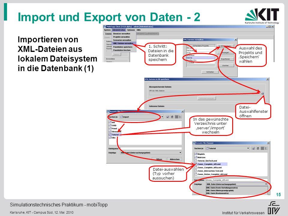 Import und Export von Daten - 2