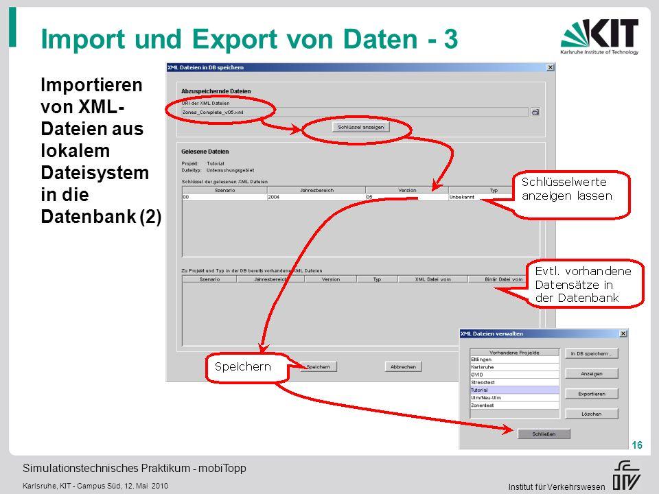 Import und Export von Daten - 3