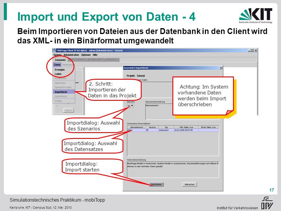 Import und Export von Daten - 4