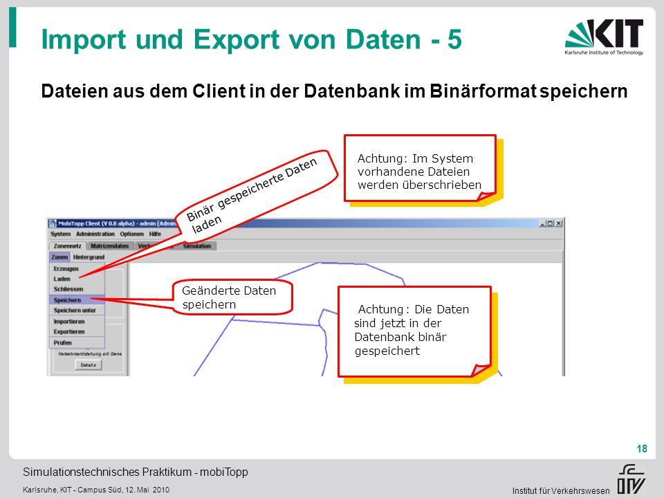 Import und Export von Daten - 5