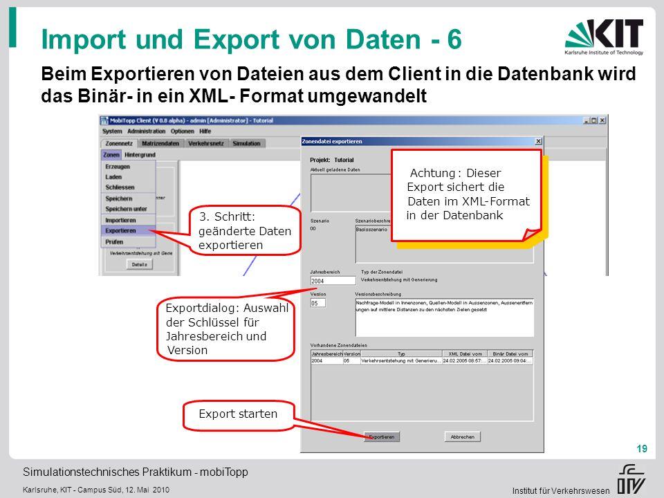 Import und Export von Daten - 6