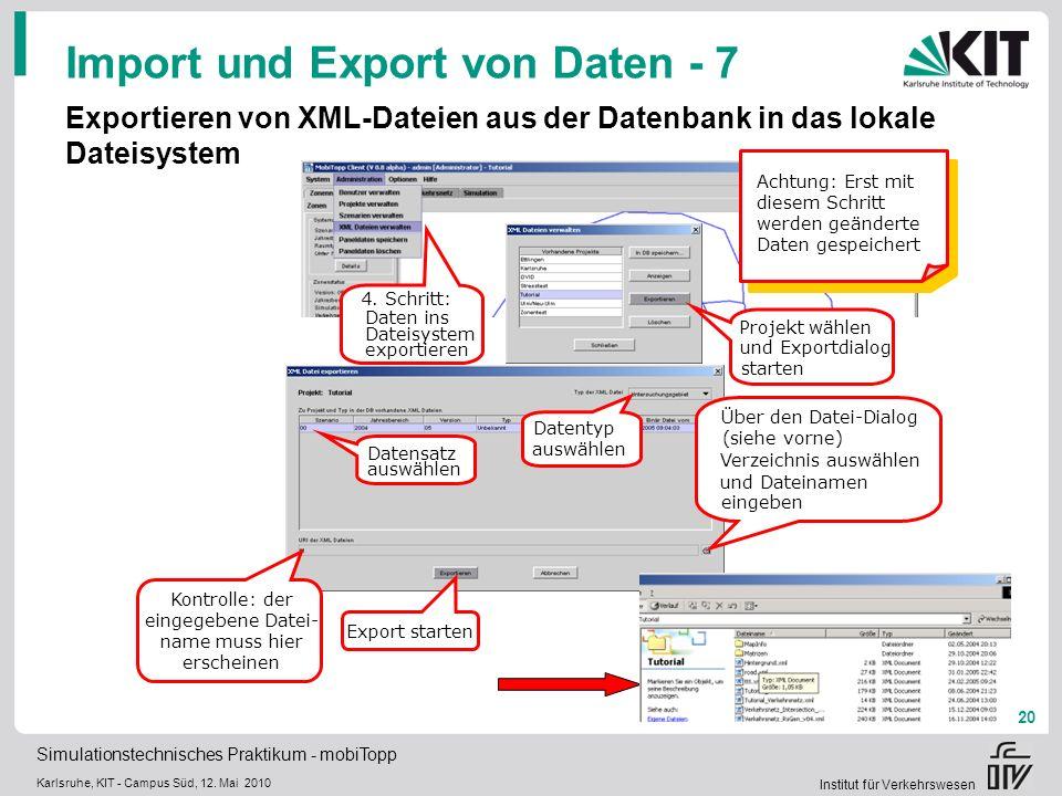 Import und Export von Daten - 7