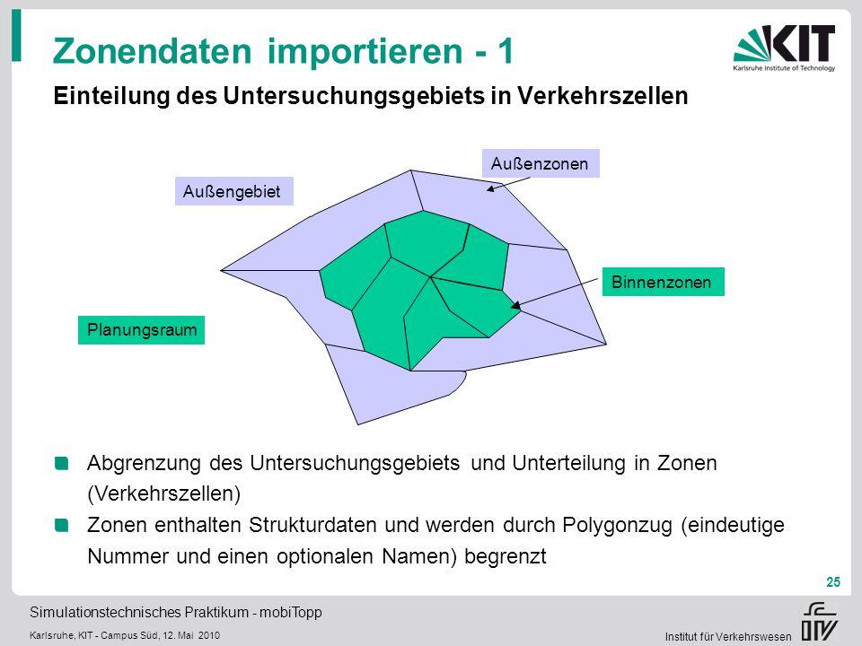 Zonendaten importieren - 1