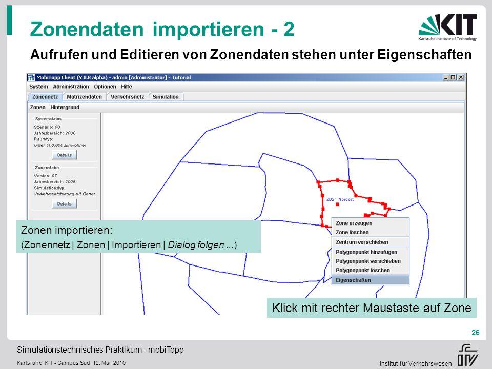 Zonendaten importieren - 2