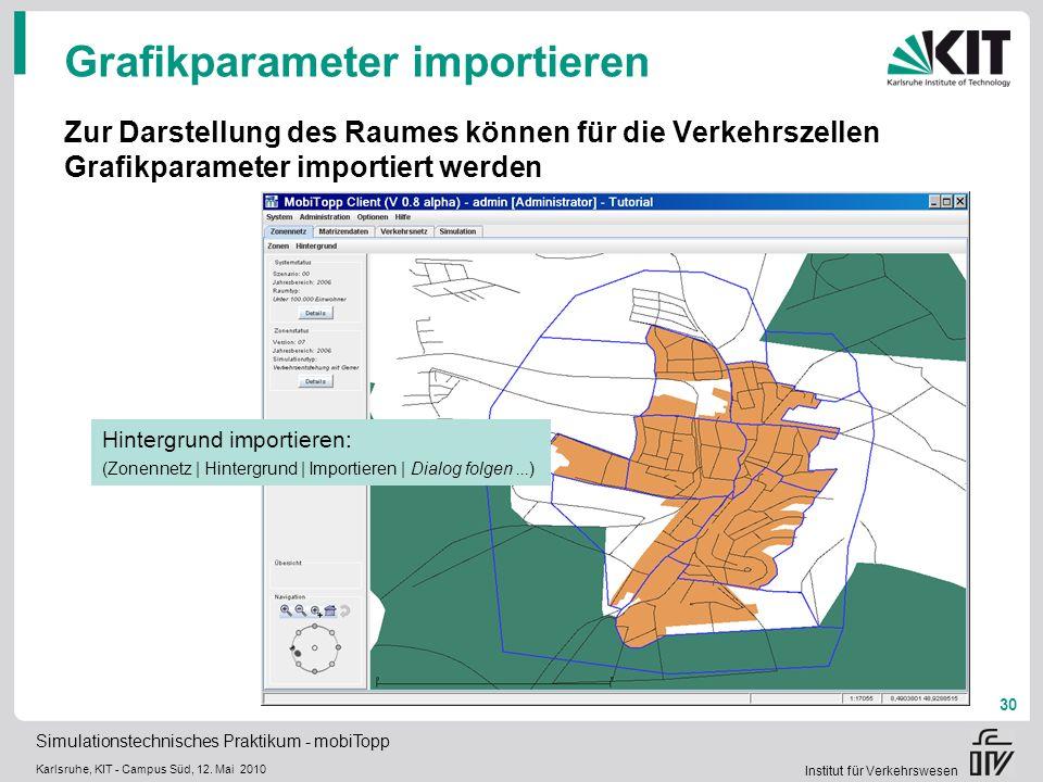 Grafikparameter importieren