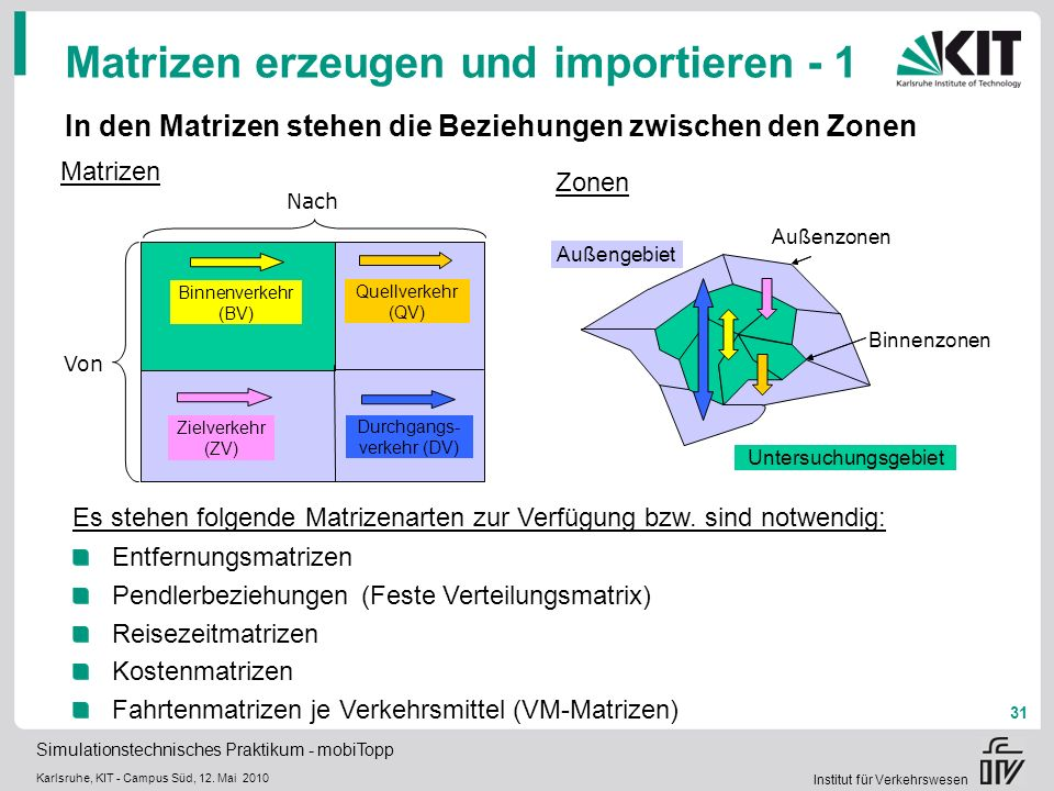 Matrizen erzeugen und importieren - 1