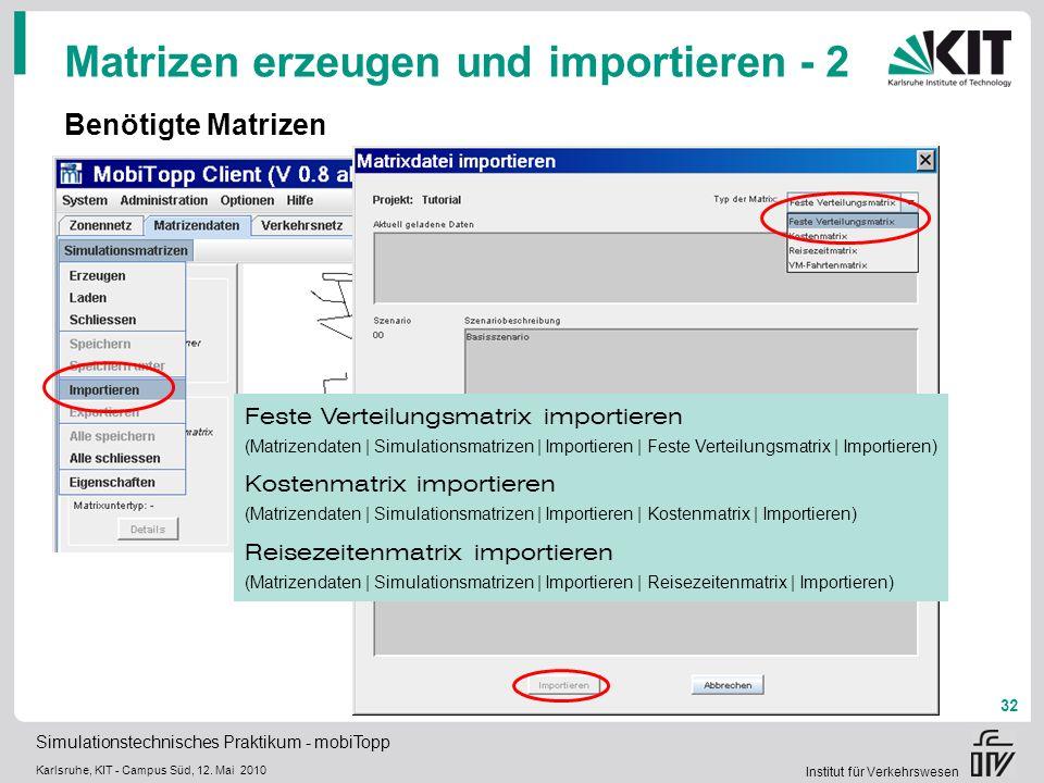 Matrizen erzeugen und importieren - 2