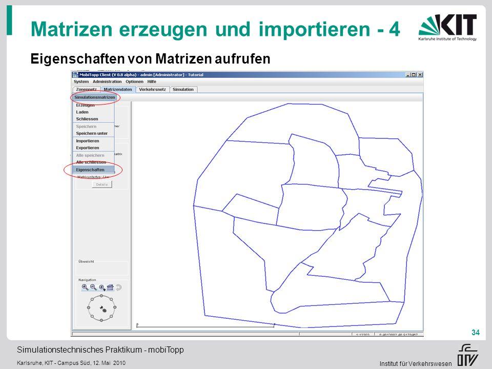 Matrizen erzeugen und importieren - 4