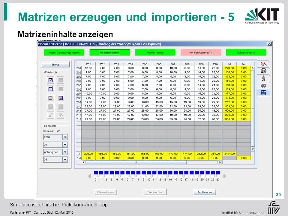 Matrizen erzeugen und importieren - 5