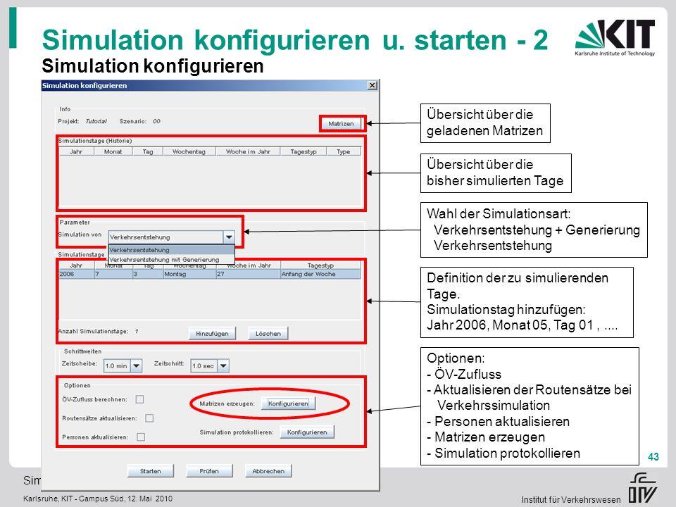 Simulation konfigurieren u. starten - 2