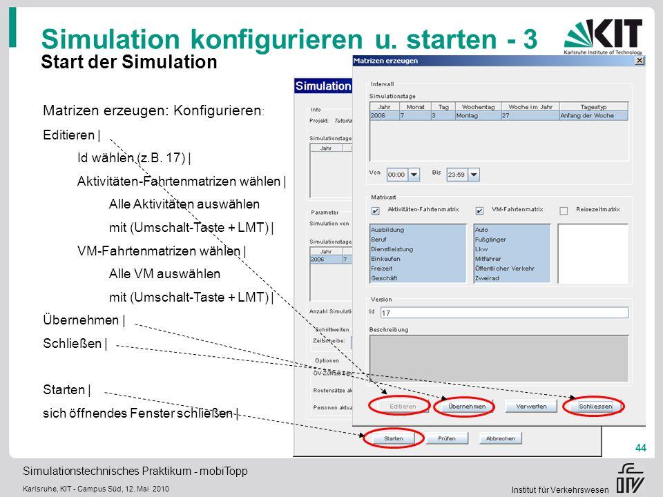Simulation konfigurieren u. starten - 3