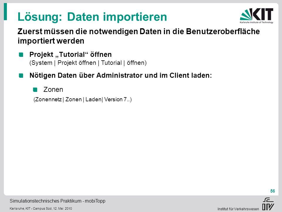 Lösung: Daten importieren