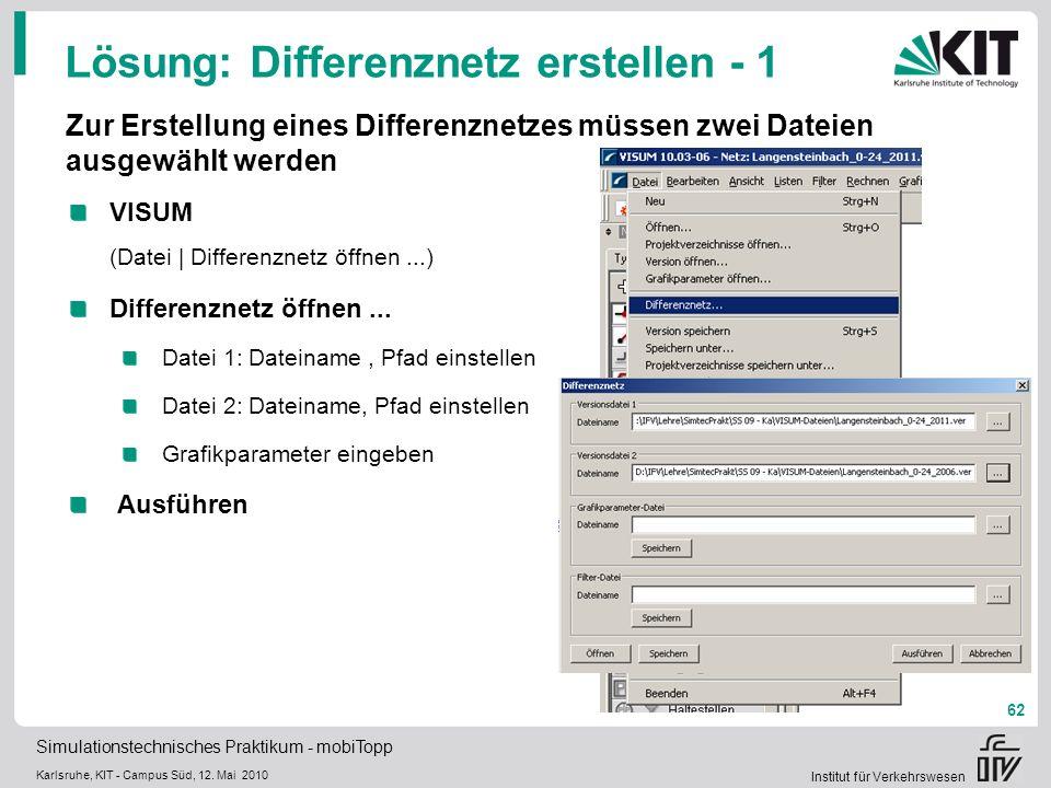 Lösung: Differenznetz erstellen - 1