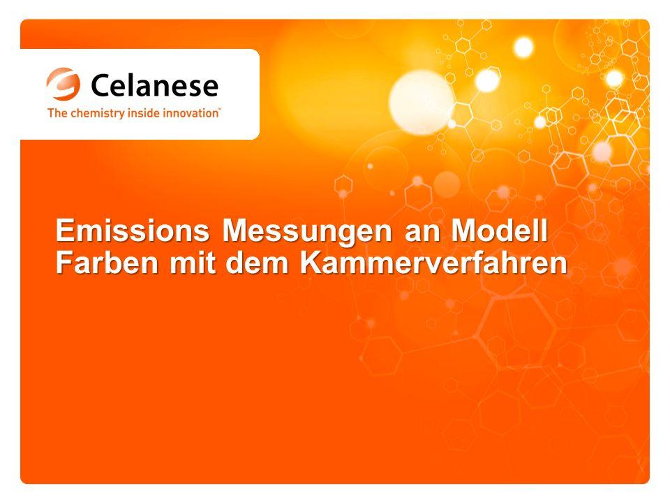 Emissions Messungen an Modell Farben mit dem Kammerverfahren