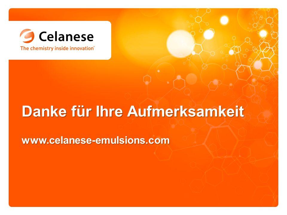 Danke für Ihre Aufmerksamkeit www.celanese-emulsions.com