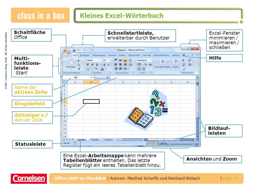 Kleines Excel-Wörterbuch