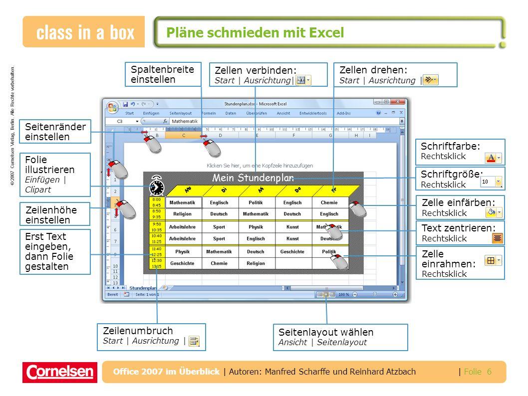 Pläne schmieden mit Excel