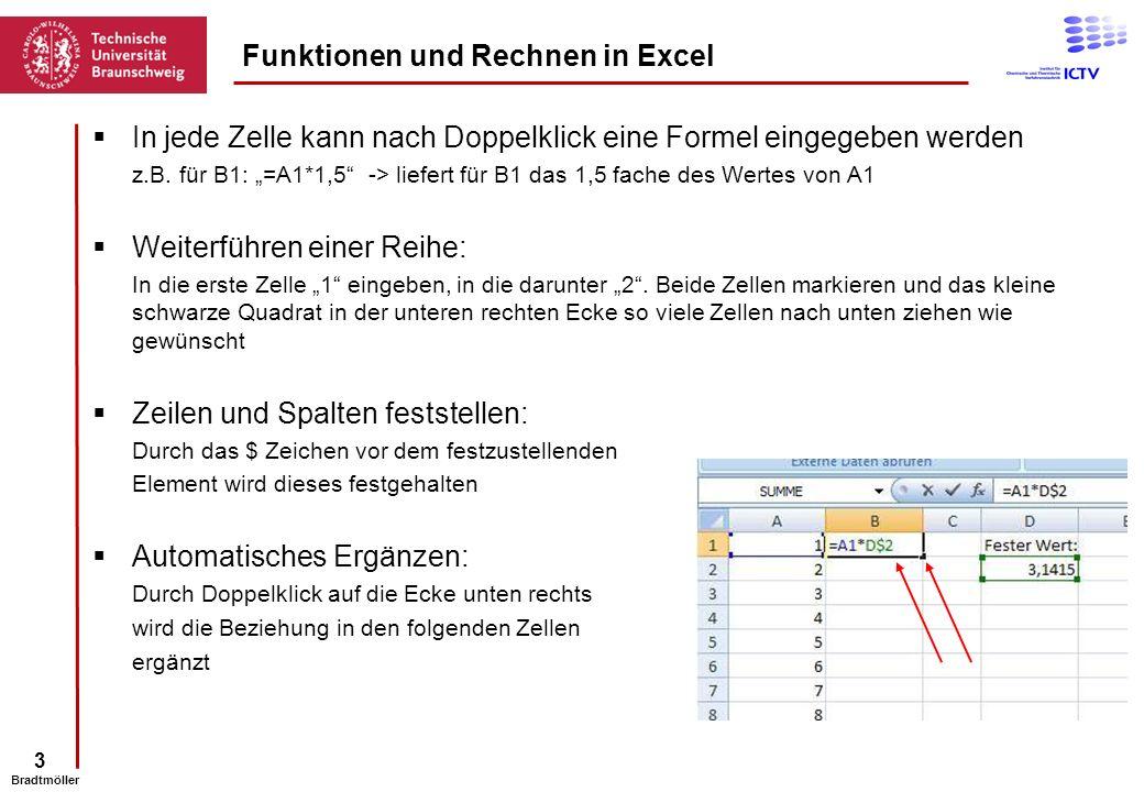 Funktionen und Rechnen in Excel