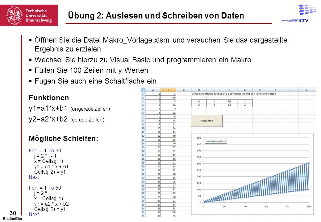 Übung 2: Auslesen und Schreiben von Daten