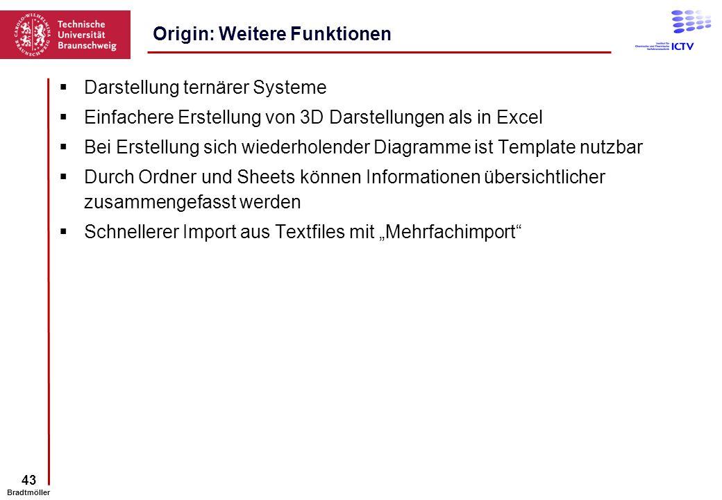 Origin: Weitere Funktionen