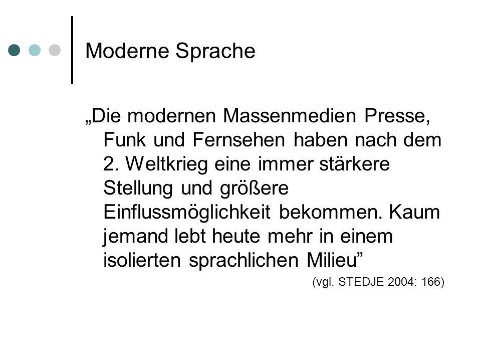 Moderne Sprache